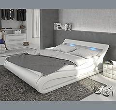 Idea Regalo - muebles bonitos Letti e Mobili - Letto di design Carol in color bianco con LED 160x200