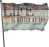 Patry-Flagge, Flagge im Freien, Life is Better at The Beach Flags Durable House Flag Fade Resistant...