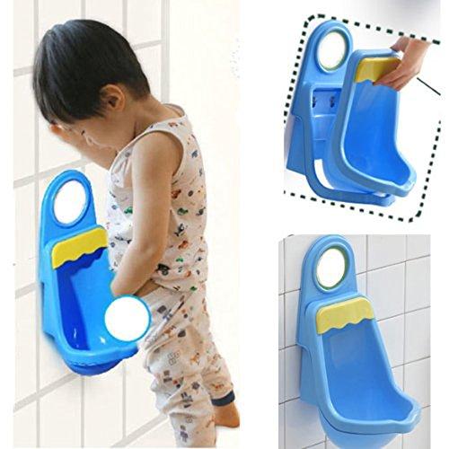 WINOMO Neuheit Kids Kind Kinder Kleinkind Töpfchen Pee Trainer Training Urinal WC für Jungen (blau) (Kinder Angel Bekleidung Kleinkind)