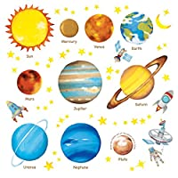 Decowall Planets in The Space Kids Wall Stickers Wall Decals (1307/8007 / 1307L)