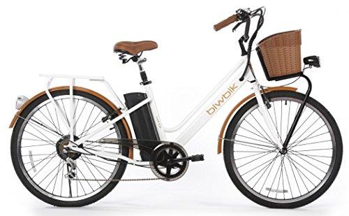 BIWBIK Bicicleta ELECTRICA Mod. GANTE BATERIA Ion Litio 36V12AH (Blanco)