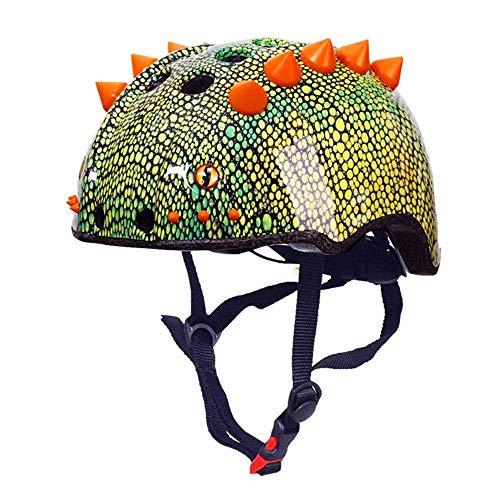 Kinder und Jugendliche halbe Helm 3D Dinosaurier Stil Reiten Fahrrad Skateboard Outdoor Sports Schutzhelm (Size : L)