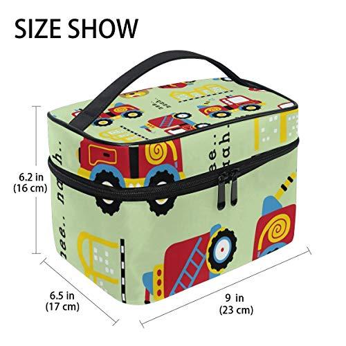 Reise Make-up Tasche Cartoon Fahrzeug Verkehr Kosmetiktasche Organizer für Frauen Mädchen Kulturbeutel Tragbare Lagerung Kosmetiktasche