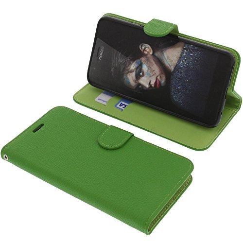 foto-kontor Tasche für TP-Link Neffos N1 Book Style grün Schutz Hülle Buch