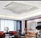 LED-moderne einfache romantische Wohnzimmer Schlafzimmer Kristall Deckenleuchte (mit Lichtquelle) ( größe : 93*53*19 )