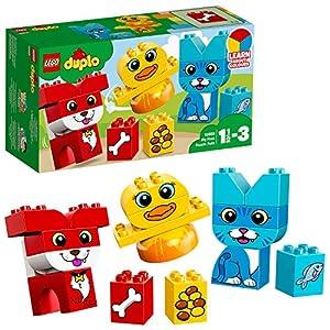 LEGO DUPLO - Primer Puzzle de Mascotas, Juguete Preescolar Creativo de Construcción con Piezas de Colores para Niños y Niñas de 1 Año y Medio a 3 Años (10858)