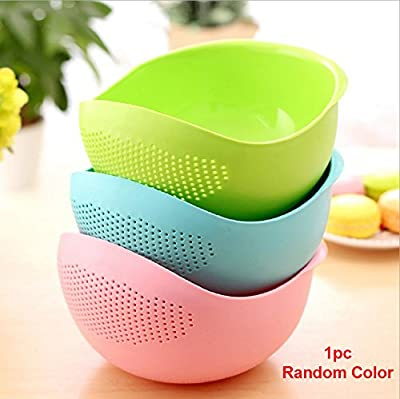 House of Quirk Multi-Function With Integrated Colander Mixing Bowl Washing Rice, Vegetable and Fruits Drainer Bowl