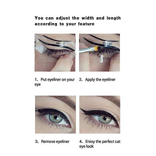 NALATI 6PCs Stencils for Perfect Cat Eyeliner and Smoky Eyes Makeup Tools