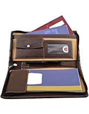 COI Leatherite Cheque Book Holder Document Folder Brown and