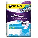 Always Discreet Serviettes Long pour Fuites Urinaires/Incontinence x 20