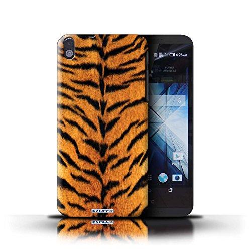 Kobalt® Imprimé Etui / Coque pour HTC Desire 816 / Vache/Noir conception / Série Motif Fourrure Animale Tigre