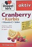 Doppelherz Cranberry + Kürbis – Mit Vitamin C + Selen für den Zellschutz und zur Unterstützung des Immunsystems – 1 x 30 Kapseln