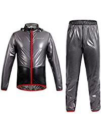 West ciclismo impermeable bicicleta chaqueta Jersey Ciclismo Chubasquero Lluvia Abrigo pantalones ropa de deporte de equitación viento chaquetas lluvia pantalones de nosotros tamaño, juventud Mujer hombre, color negro, tamaño L
