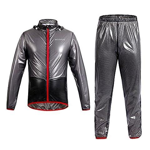 West Cyclisme Vélo imperméable pour femme Jersey de cyclisme imperméable pour chien Manteau imperméable pour femme sport Vêtements d'équitation Vent Pluie Vestes pour femme Taille US, noir, Size L:(UK/S)(H:67-69