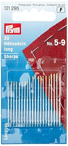 Prym Consu Nähnadel lang, Nr.5-9, silber/gold, 20St.