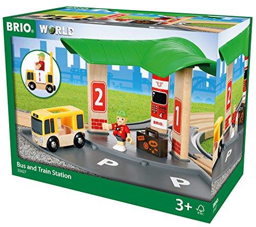BRIO World 33427 - Bus- und Zug-Bahnhof