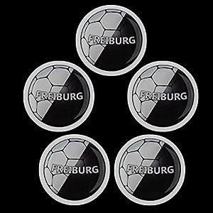 Magnete Set M0187 5er Fußball Freiburg stark haftend und groß - für Kinder, Kinderzimmer, Büro, Haushalt, Whiteboard, Kühlschrank