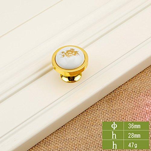 Keramik Single Hole Griff Gold Wein Schrank Bücherregal Schuh Schrank Hardware Persönlichkeit Türgriff Creative Schublade Türgriff (10 Stück) ( Farbe : 4# )