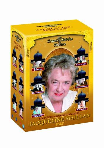 Coffret Jacqueline Maillan 6 titres : J'ai deux mots à vous dire; Lily et Lily; Potiche; Le pont japonais; On purge bébé; Coup