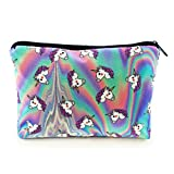 Federmäppchen Kosmetiktasche Federtasche Stiftemappe Make Up Täschchen Full Print All Over Bag Einhorn Unicorns [009]
