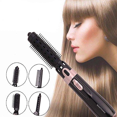 rzes Haar - Elektrischer Haarstyling-lockenwickler - 4-in-1 Beheizter Fön Und Stylingbürste - Kamm-kamm-one, Antistatisch ()