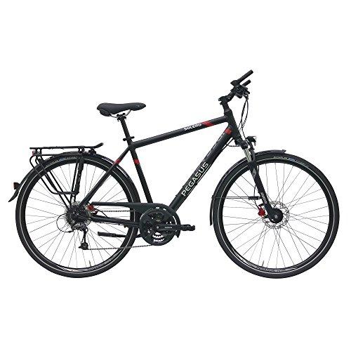 Pegasus Solero SL Disc Herren 24 Gang Trekking Fahrrad 2017, Farbe:Schwarz;Rahmenhöhe:53 cm