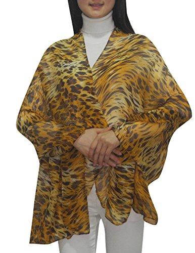 Femme confortable et ultra-doux uni sheer imprimé animal Multicolore - Multicolore