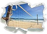 Rete di pallavolo sulla Dimensione Adesivo Spiaggia, Carta da Parati 3D: 62x45 cm Decorazione della Parete 3D Wall Stickers Parete Decalcomanie