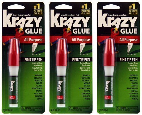 krazy-glue-kg82448r-instant-crazy-glue-all-purpose-pen-0106-ounce-3-pack-by-krazy-glue