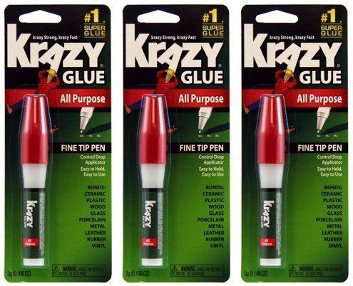 krazy-glue-kg82448r-instant-crazy-glue-all-purpose-pen-0106-ounce-3-pack-by-krazy-glue