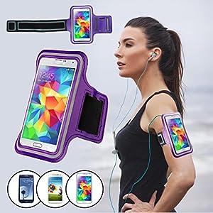 Brassard Sport pour Samsung Galaxy S3/S4/S5, SAVFY Brassard Smartphone pour Course Jogging Vélo Pêche Sangle Réglable Spécification: Ce brassard a été conçu pour Samsung Galaxy S3/S4/S5. Fabriqué à partir de néoprène résistant à l'eau avec bande réfl...