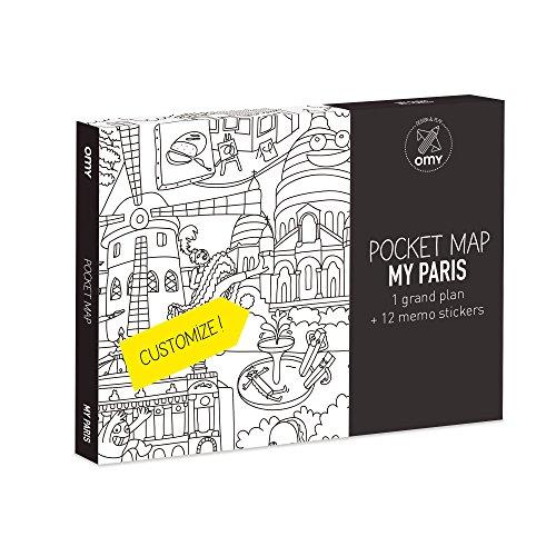 OMY Plan de poche de Paris à colorier (format 52 x 38 cm)-