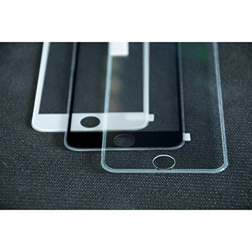 1 x Apple iPhone 8 Plus Pellicola Protettiva Vetro Temperato chiaro full screen con telaio in silicone - PhoneNatic Pellicole Protettive Trasparente