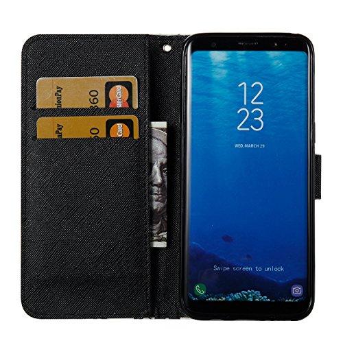 Cover Galaxy S8, Custodia Galaxy S8, Sunroyal [RFID Blocco Portafoglio] Bling Diamante Custodia 100% da del Raccoglitore Manofatto Basamento per Carta di Credito Copertura protettiva per Samsung Galax Modello 05
