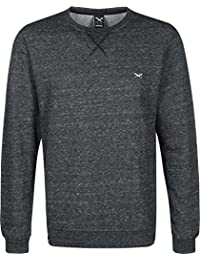 IRIEDAILY - - Homme - Sweat Col Rond Chamisso Flag Crew Noir Chiné pour homme