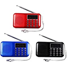 TOOGOO (R)Mini Portable LED numerique FM Radio Haut-parleur USB Micro SD TF Carte MP3 Music Player