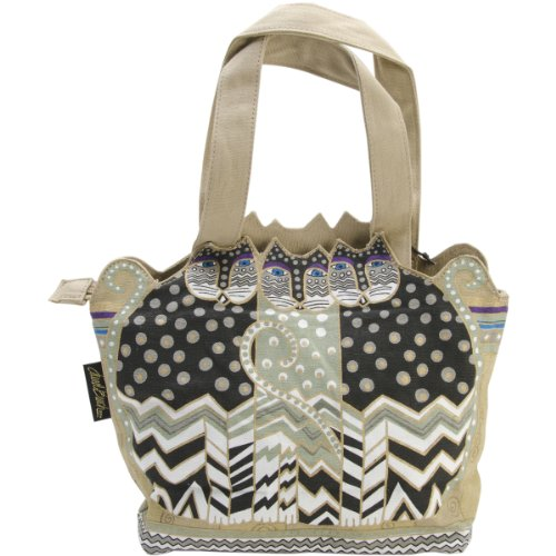 laurel-burch-laurel-burch-medium-tote-zipper-top-12-by-3-1-2-by-8-1-2-inch-tres-gatos-black-white-gr