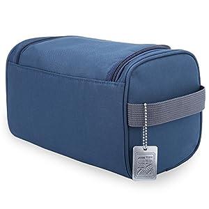 H&S Toiletry Bag Overnight Wash Bag Hanging Gym Shaving Bag for Men and Women Ladies Travel Blue