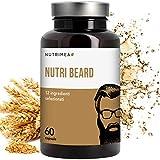 Integratore Crescita Barba Uomo Plus • Biotina MSM Cheratina Zinco Vitamina D3 B12 B6 B2 Stimola la Crescita della Barba