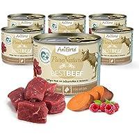 Comida Húmeda para Gatos Sin Cereales | 97% Carne de Ternera Best Beef (6 x 200g) | 100% Natural Sin Granos Ni Conservantes | AniForte