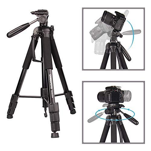 Kamera Stativ-JIABAO 176.5cm/70'' Dreibein-Stative/Einbeinstativ Aluminiumlegierung Stativ Kompakt Leichtes Stativ für DSLR SLR Canon Nikon Sony Panasonic Samsung und Tragetasche