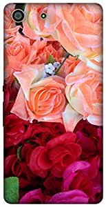 The Racoon Lean red rose bouquet hard plastic printed back case / cover for Sony Xperia M5