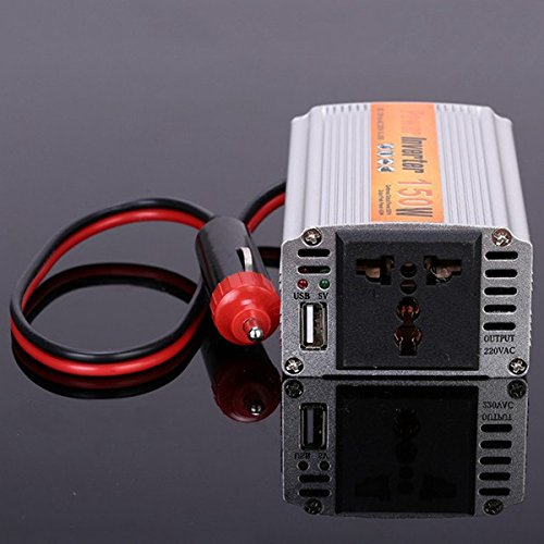 Generic SGR-NX1512 150W Car Power Inverter Power Supply Adapater DC 12V to AC 220V for iPhone Xiaomi Labtop One piece
