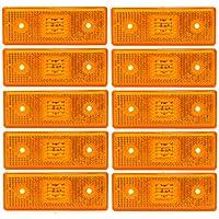 A1 10 Stk 4 SMD LED 24V Positionsleuchte Umri/ßleuchte Begrenzungsleuchte LKW Gelb