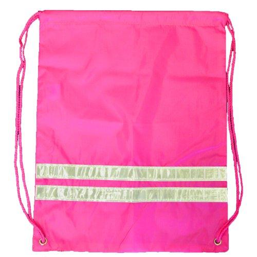 Centrix Rucksack-Beuteltasche mit Reflektorstreifen, 3Farben:Gelb, Orange, Pink