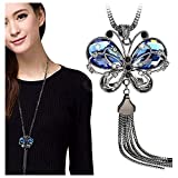 Best Necklace For Kids - Shining Diva Fashion Jewellery Butterfly Pendent for Girls Review