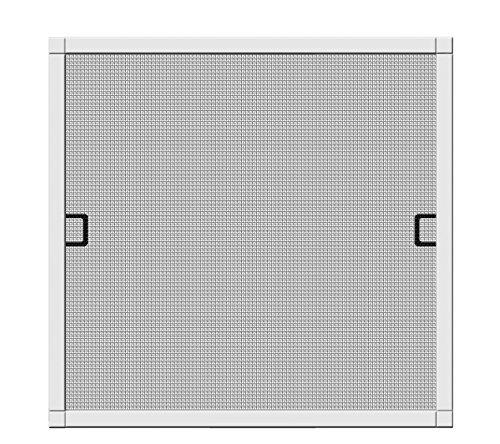 Schellenberg 70042 Insektenschutz-Fenster Premium, Fliegengitter mit Rahmen – 140 x 150 cm in weiß, 1 Stück