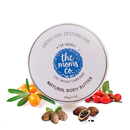The Moms Co. Natural Body Butter (200g), Pregnancy Butter that Targets Dry Skin and Stretch Marks With Shea and Cocoa Butter