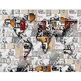 Fototapete Banksy Mosaik Weltkarte Vlies Wand Tapete Wohnzimmer Schlafzimmer Büro Flur Dekoration Wandbilder XXL Moderne Wanddeko - 100% MADE IN GERMANY - Runa Tapeten 9167010a