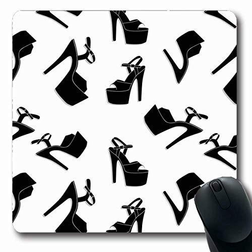 Luancrop Mousepads für Computer Mädchen Sexy Pole Dance Stripper Schuhe Stil Exotisch Abstrakt Luft Design rutschfeste Oblong Gaming Mouse Pad - Sexy Exotische Stripper